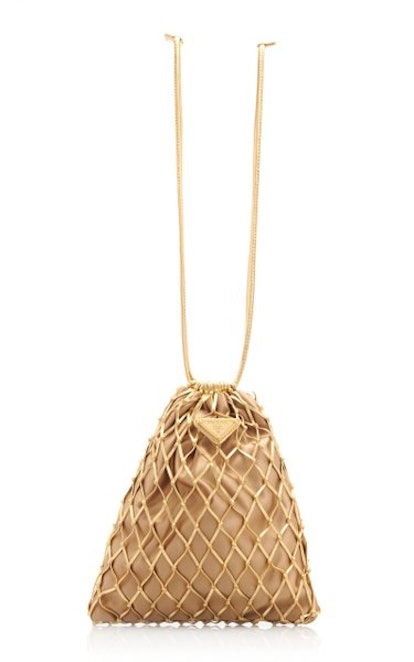 Faux Leather Mesh Bag