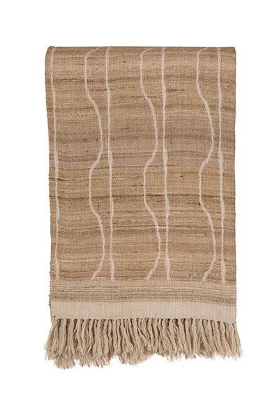Vertical Jaal Wool & Raw Silk Throw