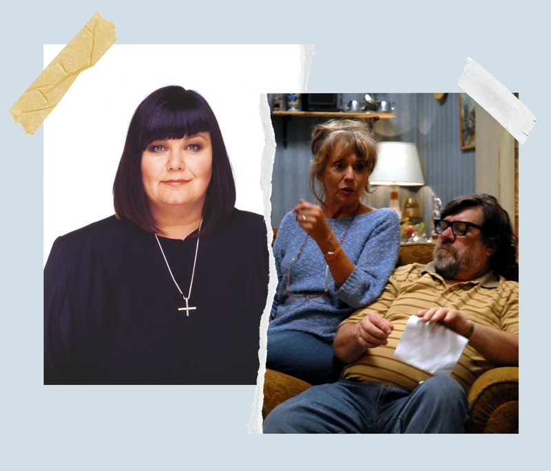 composite image of Dawn French as the vicar of dibley and Sue Johnston and Ricky Tomlinson in 'The Royle Family'
