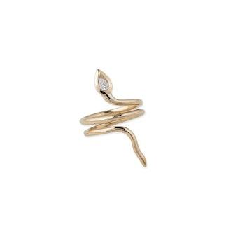Diamond Teardrop Snake Ring