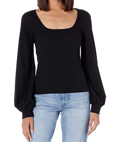 The Drop Square-Neck Balloon-Sleeve Top