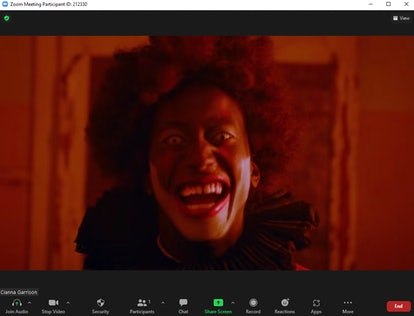 These scary Zoom backgrounds include creepy clowns.