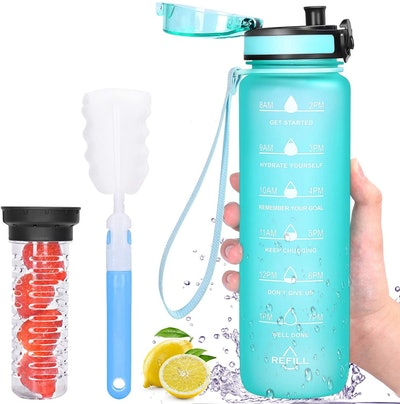 Favofit Motivational Water Bottle With Fruit Infuser
