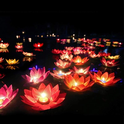 Toner Depot Water Floating Candle Lanterns (15-Pack)