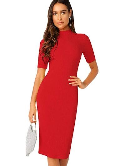 SheIn Short Sleeve Sheath Pencil Dress