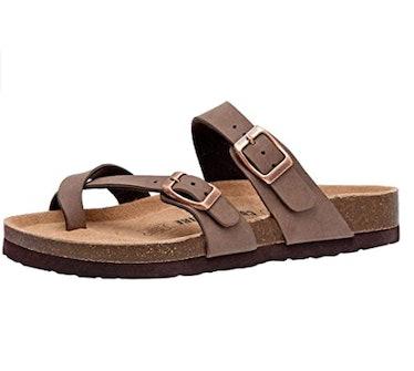 Cushionaire Cork Footbed Sandals