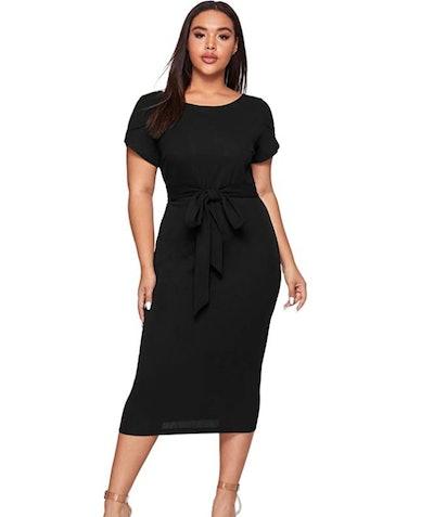 SheIn Cap-Sleeve Bodycon Dress