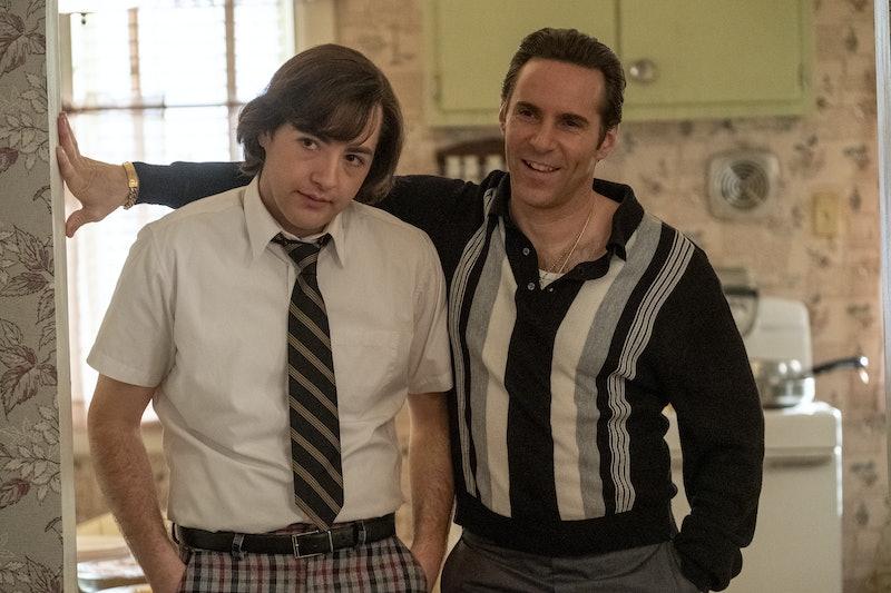Michael Gandolfini as Teenage Tony Soprano and Alessandro Nivola as Dickie Moltisanti in 'The Many S...
