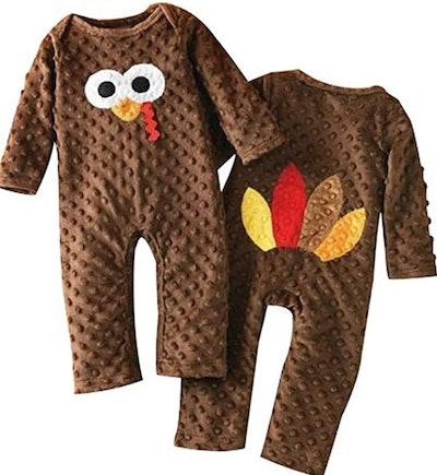 Newborn Infant Baby Thanksgiving Romper