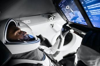 Crew-3 member Raja Chari prepares for flight.