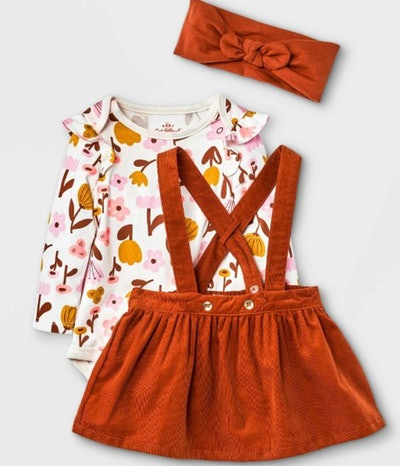 Baby Girls' Corduroy Top & Skirtall Set - Cat & Jack