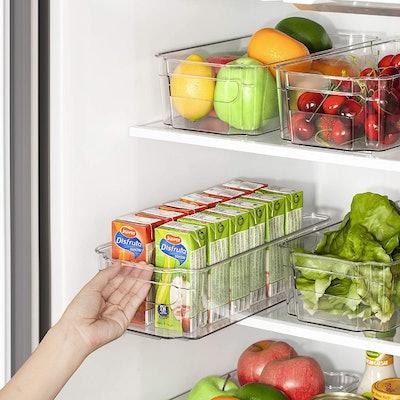 HOOJO Refrigerator Organizer Bins (8 Pieces)