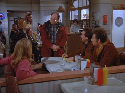 The cast of Seinfeld at Monk's