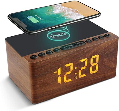 ANJANK Wooden Digital Alarm Clock