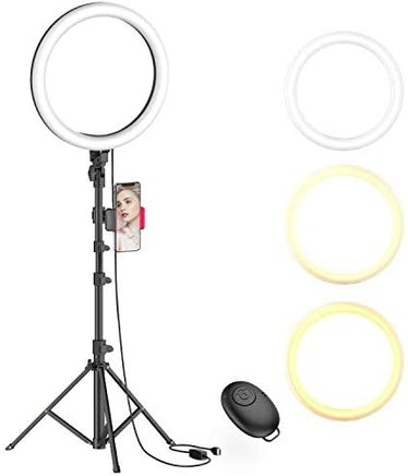 """Erligpowht 10"""" Selfie Ring Light with Tripod Stand"""