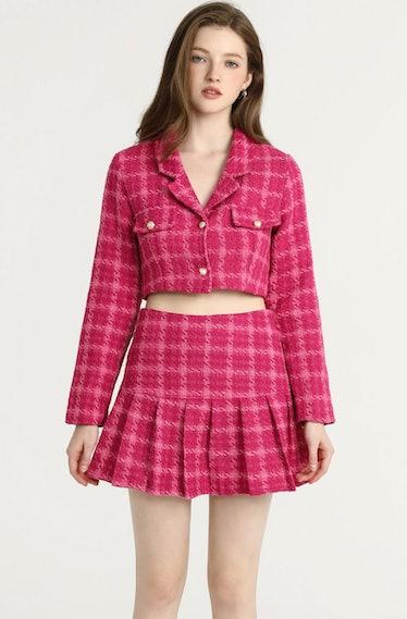 Pink Lady Jacket & Skirt Set