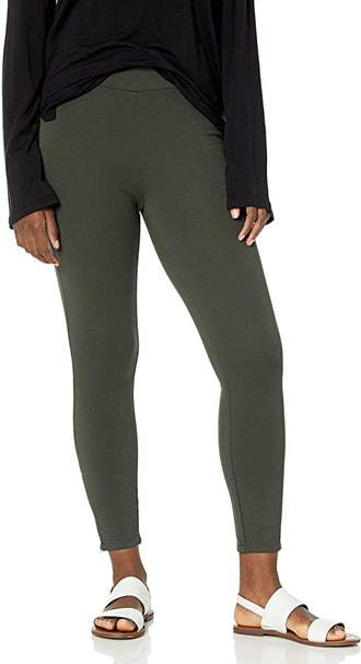 Daily Ritual Ponte Knit Legging With Side Zip