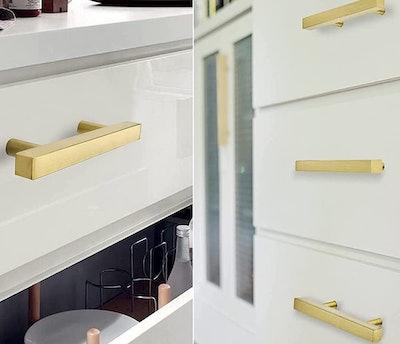 goldenwarm Brass Cabinet Pulls (5-Pack)