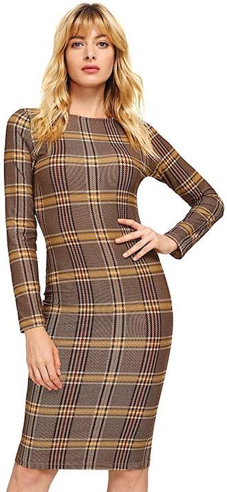 MakeMeChic Long Sleeve Dress