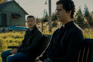 Zach Gilford and Hamish Linklater in Netflix's Midnight Mass.
