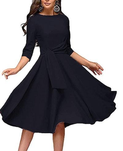 FENJAR Sleeveless Swing Midi A-line Dress