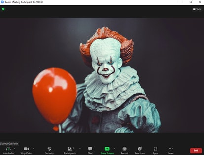 These scary Halloween Zoom backgrounds include Pennywise the clown.