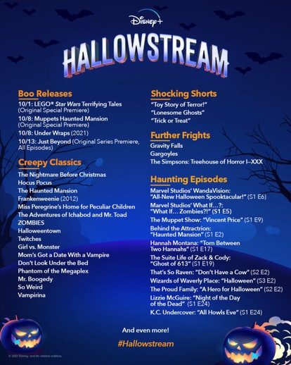 Hallowstream on Disney Plus features old classics and new favorites.