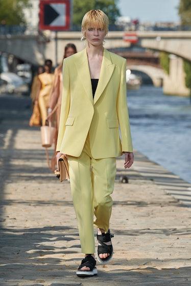 Model walks Chloé fashion show at Paris Fashion Week Spring 2022