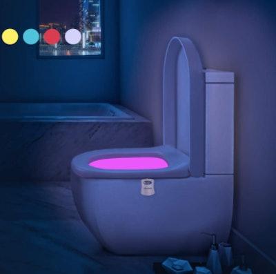 Aanrasey Motion Sensor Toilet Night Light (2-Pack)
