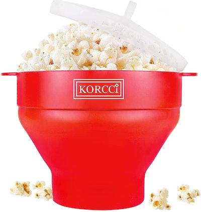 Korcci The Original Microwaveable Silicone Popcorn Popper