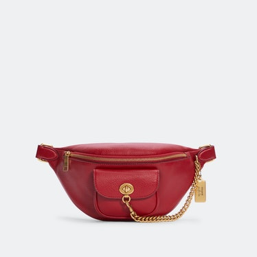 Jennifer Lopez X Coach's red chain belt bag.
