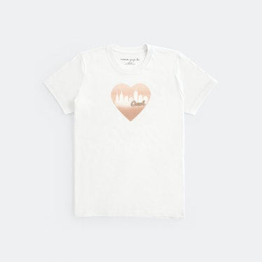 Jennifer Lopez X Coach heart city T-shirt.