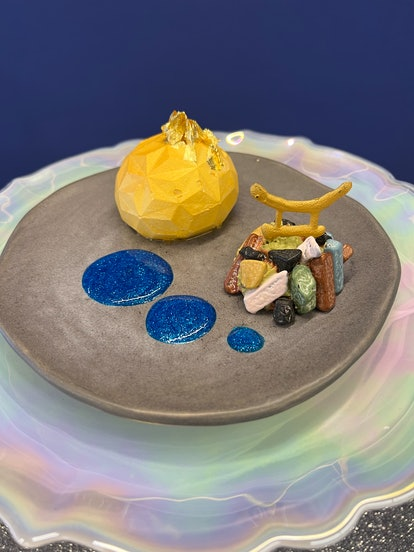 Disney World's 50th anniversary's Instagram-worthy food and drink includes a Yuzu Mousse.