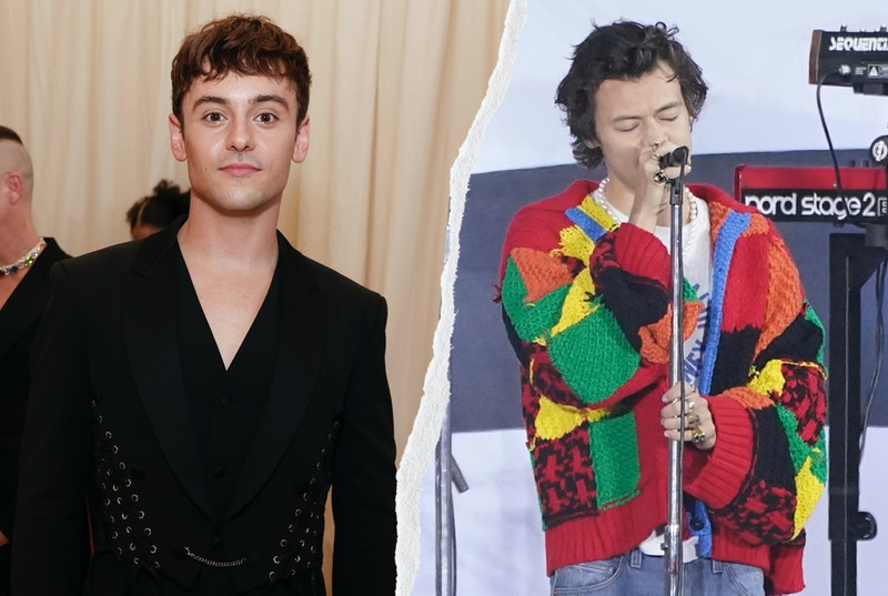 Tom Daley Knitted The Patchwork Jonathan Anderson Cardi Worn By Harry Styles