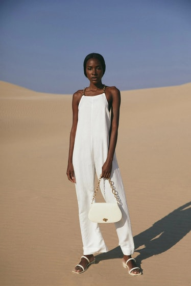 Cult Gaia's white Myla Jumpsuit.