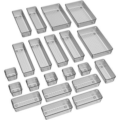 JARLINK Desk Drawer Organizer Trays (21 Pieces)