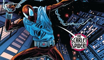 The Scarlet Spider slings some webs in Conan: Battle for the Serpent Crown Vol. 1 #2