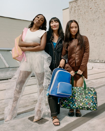 Away designer collaboration with Sandy Liang, Tia Adeola, and Ji Won Choi.