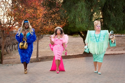 Bob the Drag Queen (left) with Shangela and Eureka.