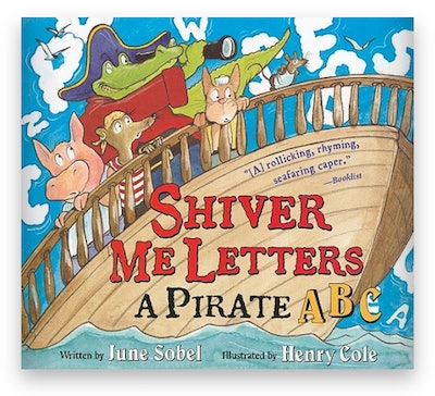 Cover art for 'Shiver Me Letters: A Pirate ABC'