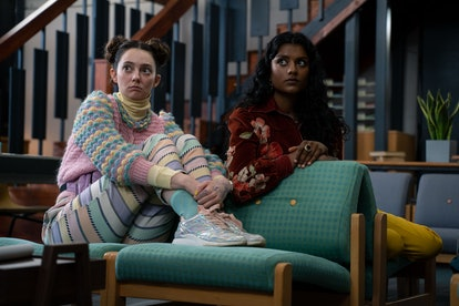 Tanya Reynolds as Lily Iglehart and Simone Ashley as Olivia in 'Sex Education'