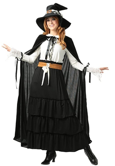 Adult woman in witch costume