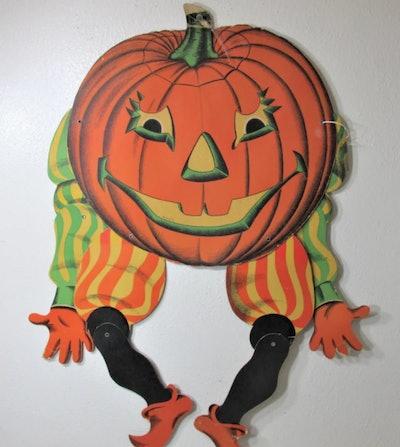 Paper vintage Halloween pumpkin