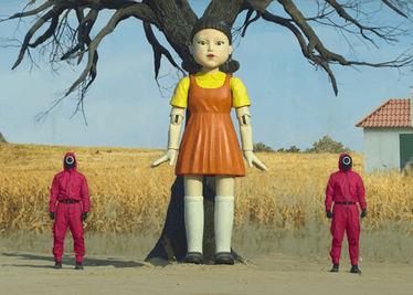 """The """"red light, green light"""" doll from Netflix's 'Squid Game' would make a great last-minute Hallowe..."""