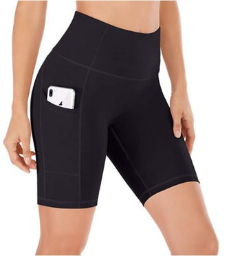 Ewedoos High Waisted Biker Shorts with Pockets
