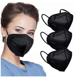 KN95 Face Masks in Black (50-pack)