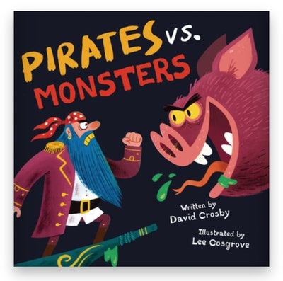 Cover art for 'Pirates vs. Monsters'