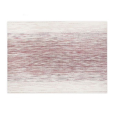 Otto Woven Vinyl Placemats in Wine (Set of 4)