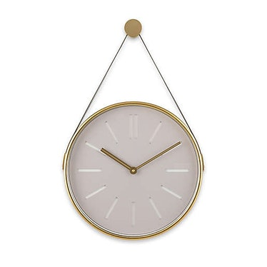 20-Inch Round Hanging Wall Clock in Grey