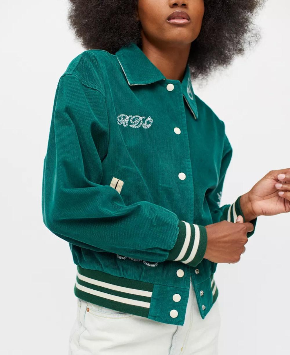 BDG Delia Corduroy Varsity Jacket